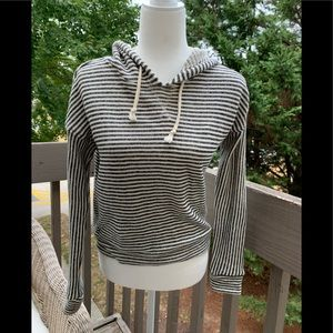 Forever 21 SZ Sm Gray/White Striped Hoodie